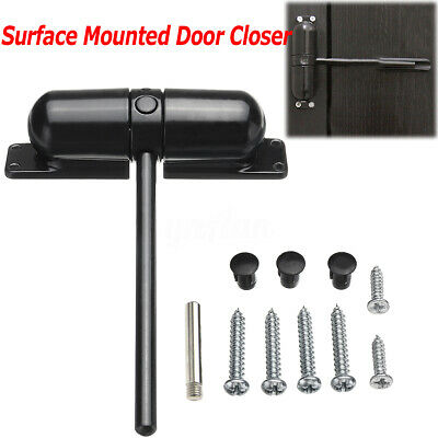 🔥Surface Mounted Auto Door Gate Closer Outdoor Spring Elastic Loaded Adjustable