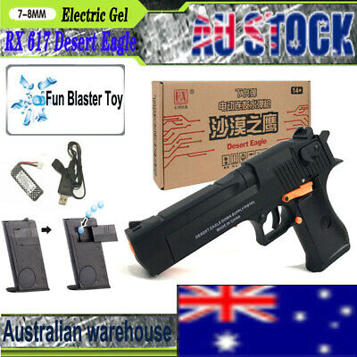 RX 617 Desert Eagle Gel Balls Blaster Pistol Toy Gelsoft Gun Auto Mag-fed Toy