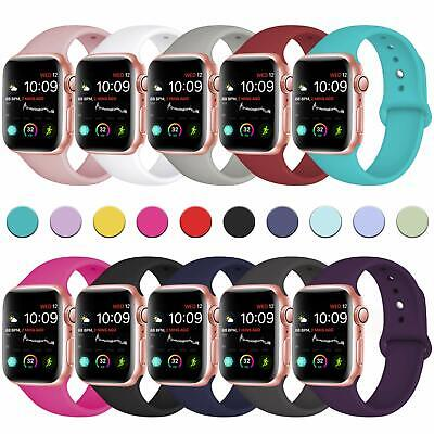 38/42mm Silicone Bracelet Band Strap For Apple Watch iWatch Sports Series1/2/3/4