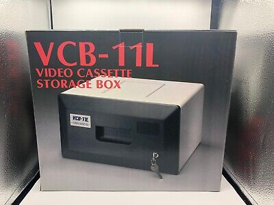 ** Video Cassette Storage Box - VCB-11L ** with lock by Marpes for 11 VHS