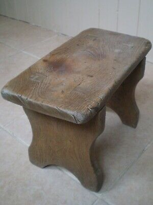 Charming Antique Oak Milking Stool.....with Great Patina.........
