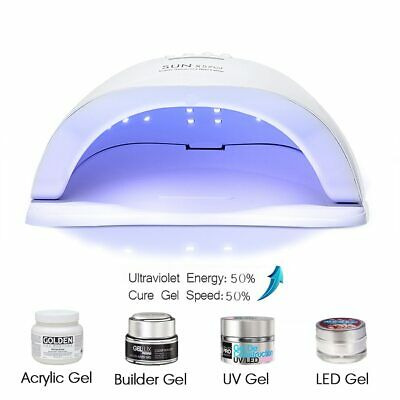 ROHWXY SUN 5X Plus UV LED Lamp For Nails Dryer 54W/48W/36W Ice Lamp For Gel Nail