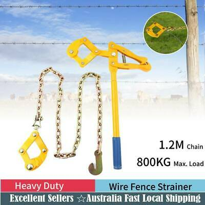 Wire fencing Strainer Fence Repair Plain & Barbed Chain Tool 1.2M 800kg Load