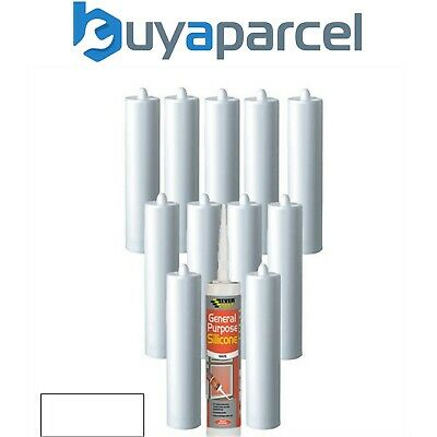 Everbuild General Purpose Silicone White C3 Size Pack of 12
