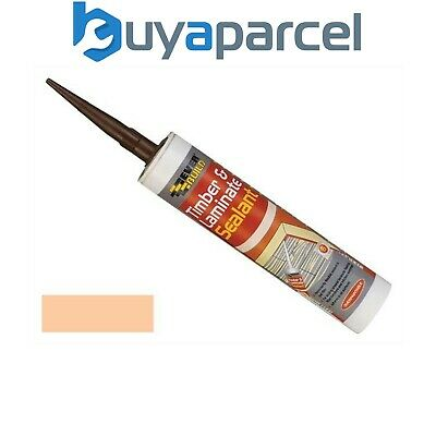 Everbuild Timber and Laminate Sealant Beech C3 Size Cartridge