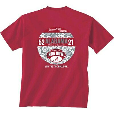 Alabama Crimson Tide vs. Auburn Tigers Crimson 2018 Football Score T-Shirt