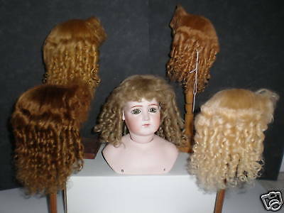 Wig Mohair for Doll - Doll Wig -t6 (27,5cm) Made in France