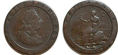 GREAT BRITAIN Cartwheel Penny 1797 GEORGES III KM#618
