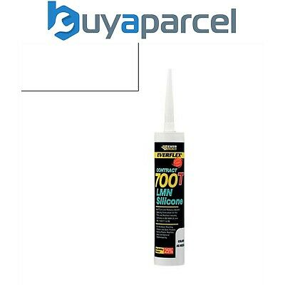 Everbuild Everflex Silicone 700T White 310ml Size Cartridge
