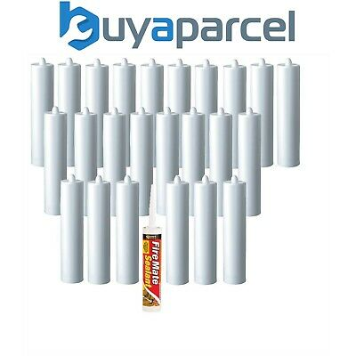 Everbuild Fire Mate Sealant White Intumescent C3 Size Cartridge Pack of 25