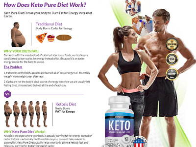 Keto Pure Diet 60 Capsules Advanced Weight Loss - Fast Delivery