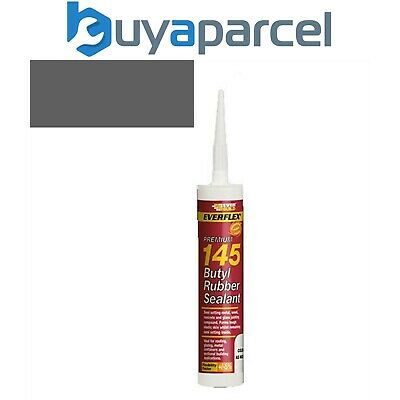 Everbuild 145 Butyl Rubber Sealant Grey C3 Size Cartridge