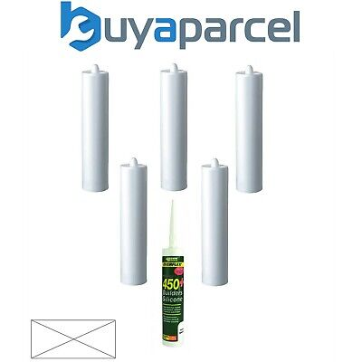 Everbuild Everflex 450 Builders Silicone Clear C3 Size Pack of 6