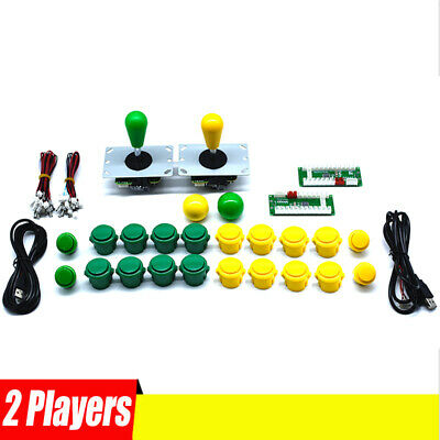 2 Players Arcade Buttons and Joystick Kit Controller Zero Delay USB Encoders DIY
