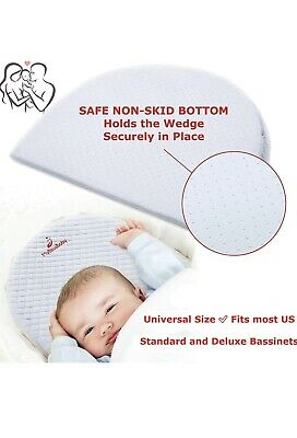 MyBlissBaby Bassinet Wedge Pillow - Infant Sleep Acid Reflux Breathable- NEW