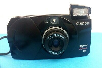 Canon Sure Shot 70 Zoom SAF Auto Focus Point & Shoot 35mm Camera Film Tested VGC