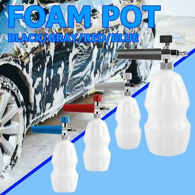 "1/4"" Snow Foam Washer Gun Car Wash Soap Lance Cannon Spray Pressure Bottle 1L"