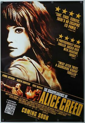 Disappearance of Alice Creed - original movie poster - 27x40 2009
