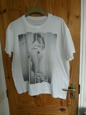 River Island White  Cotton T-Shirt L  Mens Top