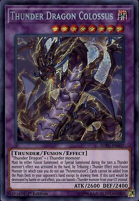 YuGiOh Soul Fusion Secret Rare Thunder Dragon Colossus SOFU-EN037