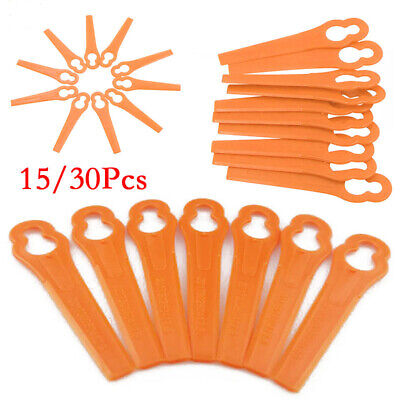 Orange Trimmer Blades Plastic Lawnmower Replacement Part Electric Power