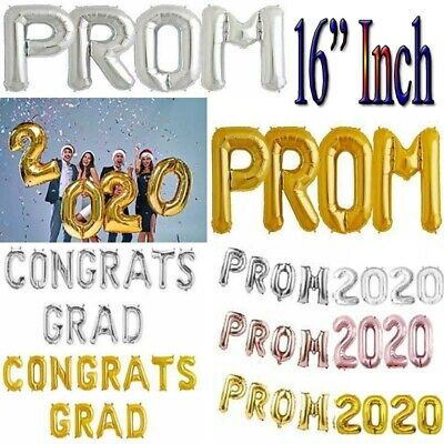 "16"" PROM 2019 Party & Decoration Balloon Banner Kit Air Fill Only rose baloon UK"