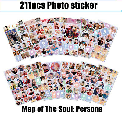 211pcs/set Kpop BTS Map of The Soul: Persona Sticker Poster Photo Stickers 2019