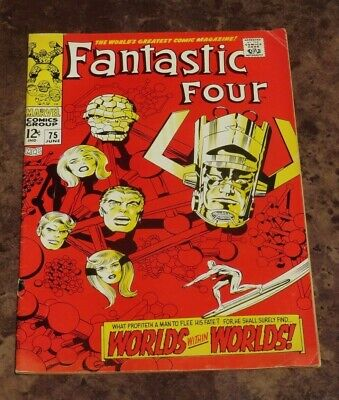 Fantastic Four #75 VG/FN Marvel Silver Age Comic Thing Mr Fantastic Jack Kirby