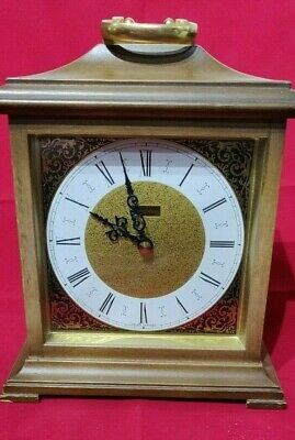 Beautiful Vintage Junghans Ato-Mat Battery Wood Cased Mantle Clock