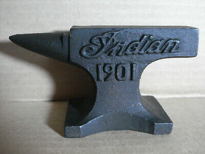Indian Motorcycles 1901 Anvil With Antique Finish and Raised Letters Paperweight