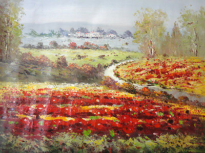 25x20 original 100% handpainted chinese oil painting on canvas-landscape