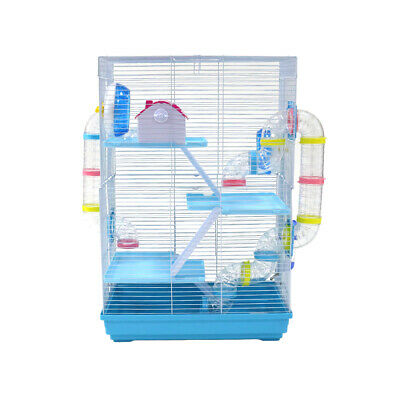 Large Hamster Cage Mouse Castle Habitat Mice Rat House Wheel Bowl Bottle 4 Layer