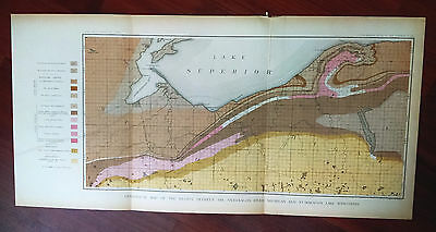 Late 1800s Geological Sketch Map, Region Between The Ontonagon River, Michigan