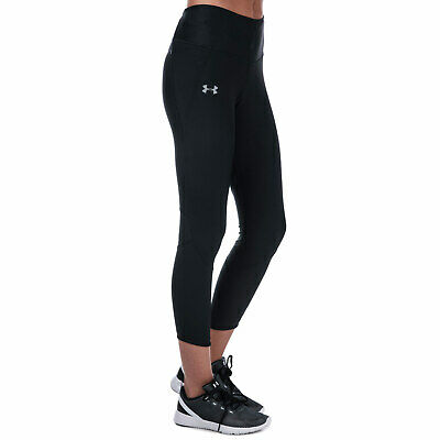 Womens Under Armour Fly Fast Crop Pants in black.