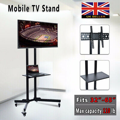 "Mobile TV Cart Floor Stand Mount Home Display Trolley for 30""-65"" Plasma/LCD/LED"