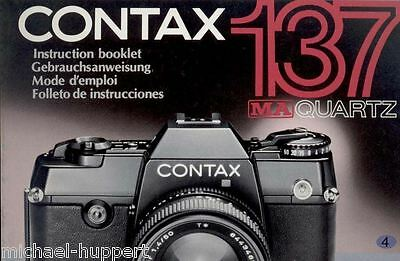 Contax 137 MA Quartz Bedienungsanleitung Manual Instruction