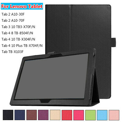 """Leather Case Tablet Cover For Lenovo Tab 2 3 4 8.0"""" 10.1"""" TB-X304F.N TB3-X70F.N"""