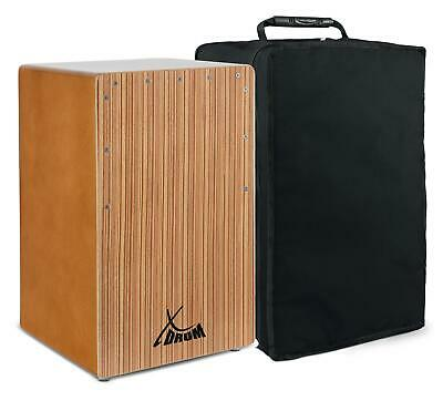 B-WARE Cajon Bass Port Walnut Zebra Trommel Percussion Instrument Gigbag Tasche