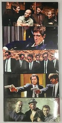 """5 Different Gangster Film Canvas designs  24""""x 10"""" On A Wooden Stretcher Frame"""