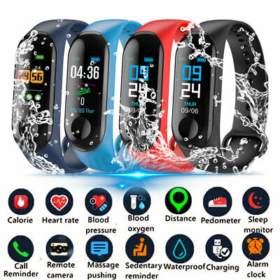 Smart Watch Bracelet Fitness Tracker Blood Pressure Heart Rate Monitor BT4.0 M3