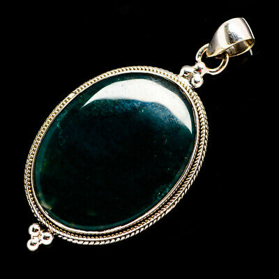 """Green Moss Agate 925 Sterling Silver Pendant 2"""" Ana Co Jewelry P691935F"""