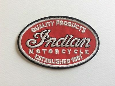 A254 // Ecusson Patch Aufnaher Toppa / Neuf / Indian Motorcycle / 10*6 Cm