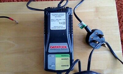 Motercycle Battery Charger/optimiser Datatool with bike charger lead