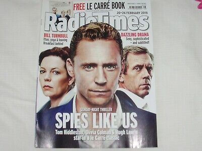 Radio Times 20-26 Feb 2106 Hiddleston/Colman/Laurie Excellent/Nr Mint Condition