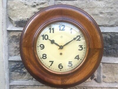 Lovely Antique Vintage Junghans Wooden Wall Clock. 1930s-40s