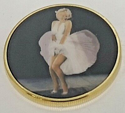 Marilyn Monroe Gold 3D Coin Beautiful Hollywood Blonde Bomb Shell Actress Model