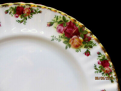"""Royal Albert  """"Old Country Roses""""  Four Dinner Plates  Circa 1962  Barely Used"""