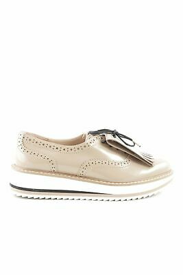 ZARA WOMAN SCHNÜRSCHUHE wollweiß Business Look Damen Gr. DE