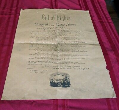 Bill of Rights Souvenir of Standard Oil 1948. Freedom Train Souvenir Historical
