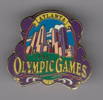 Rare Pins Pin's .. Olympique Olympic Atlanta 1996 Ville City Buildings 3D Big~19